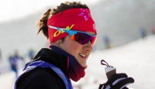 Olivia Bouffard-Nesbitt (Rocky Mountain Racers) at U23 World Championships last week in Almaty, Kazakhstan. There, the 22-year-old Bouffard-Nesbitt posted the best result of her career: 12th in the 15 k skiathlon. Photo: Raphaël Couturier