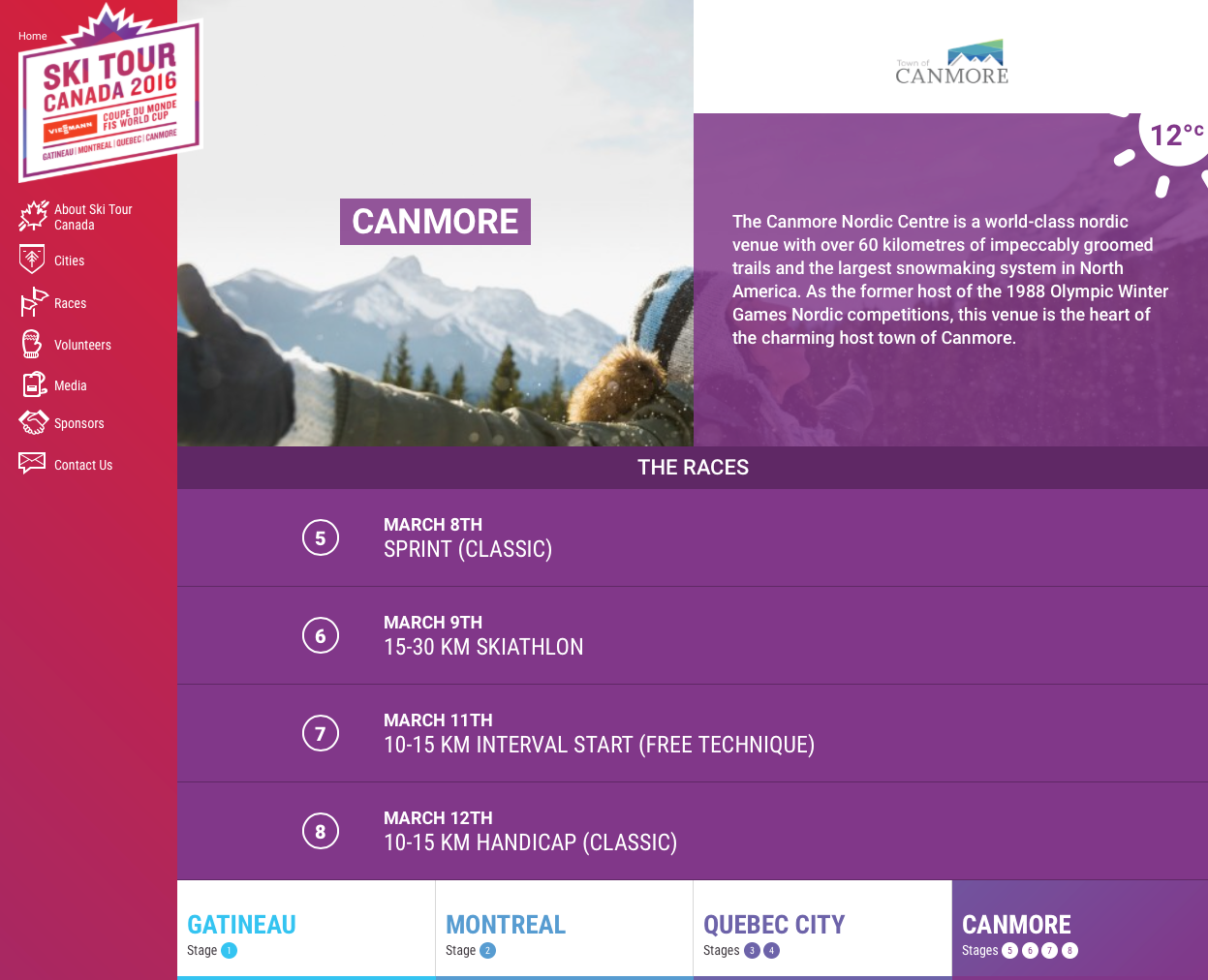 Ski Tour Canada 2016 unveils its website!