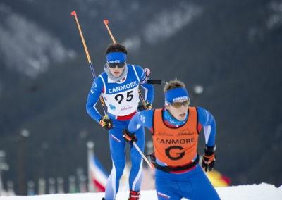 Thomas Dubois skis behind guide_pamdoyle w