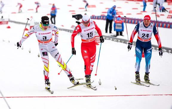 (far right) Alex Harvey (CAN) 9th in Rybinsk 30km Skiathlon ©Nordic Focus