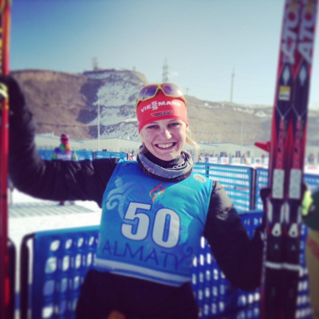 Victoria Carl celebrates win in 5 km
