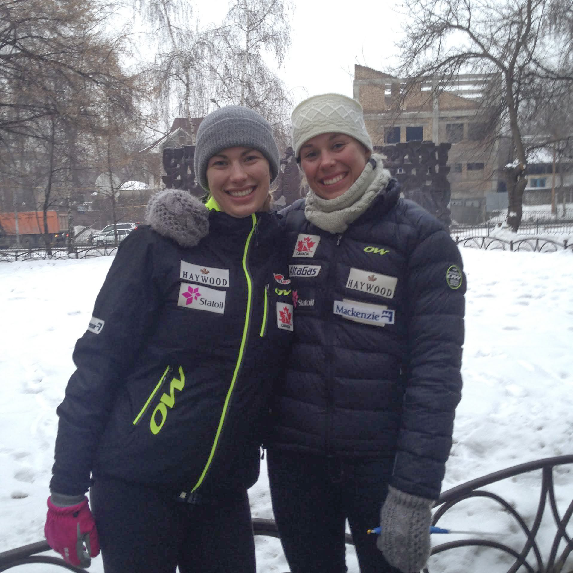 Dahria Beatty and Maya MacIsaac-Jones in Almaty
