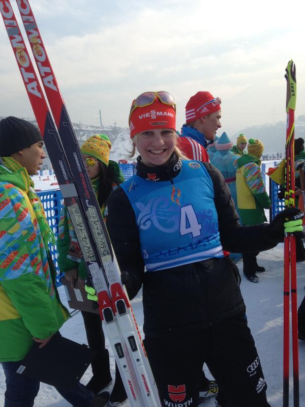2015 World Junior Sprint Champion Victoria Carl. FIS pic.