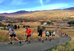 Rollerskiing at Soldier's Hollow
