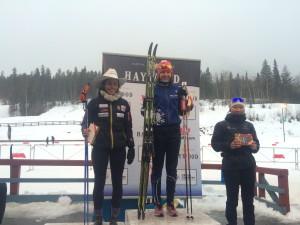 AWCA Junior Delphine with her 1st NorAm podium