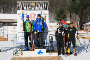 Dominique Moncion-Groulx Top of the podium Feb 3 2017 Photo Credit: Elizabeth Fink