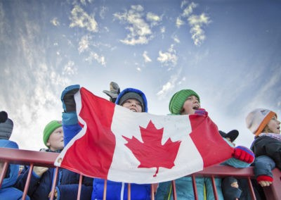 Children hold Can flag_pamdoyle w