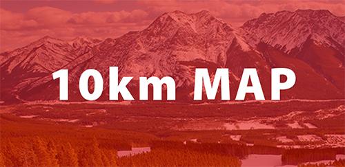 Alberta World Cup 2022 10km map