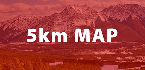 Alberta World Cup 2022 5km map