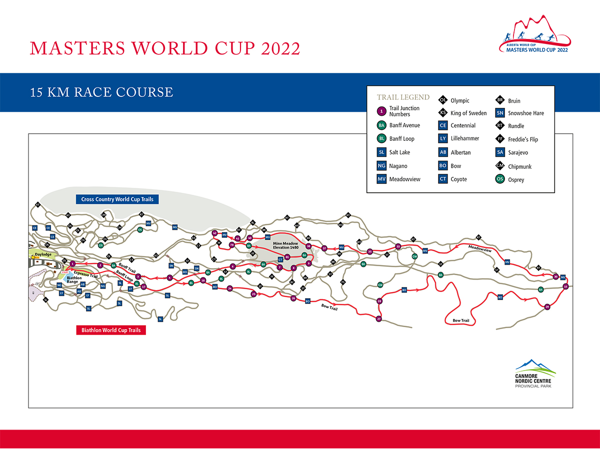 2022 Masters World Cup 15k Map