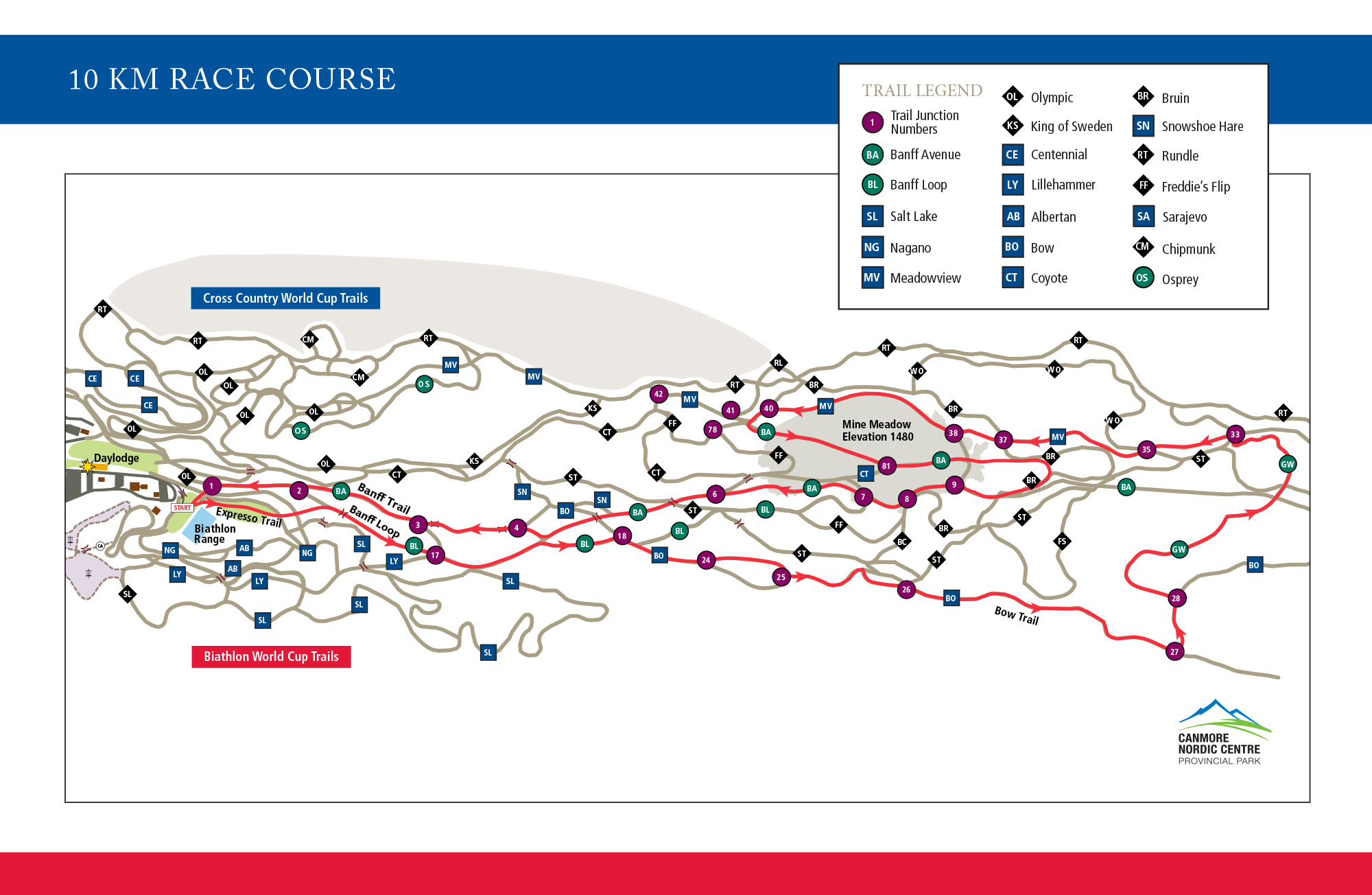 2022 Masters World Cup 10k Map